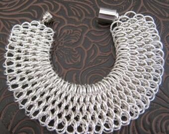 Moonlit Dragon Chainmaille Bracelet