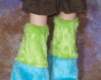 2-stripe Furry Leg Warmers