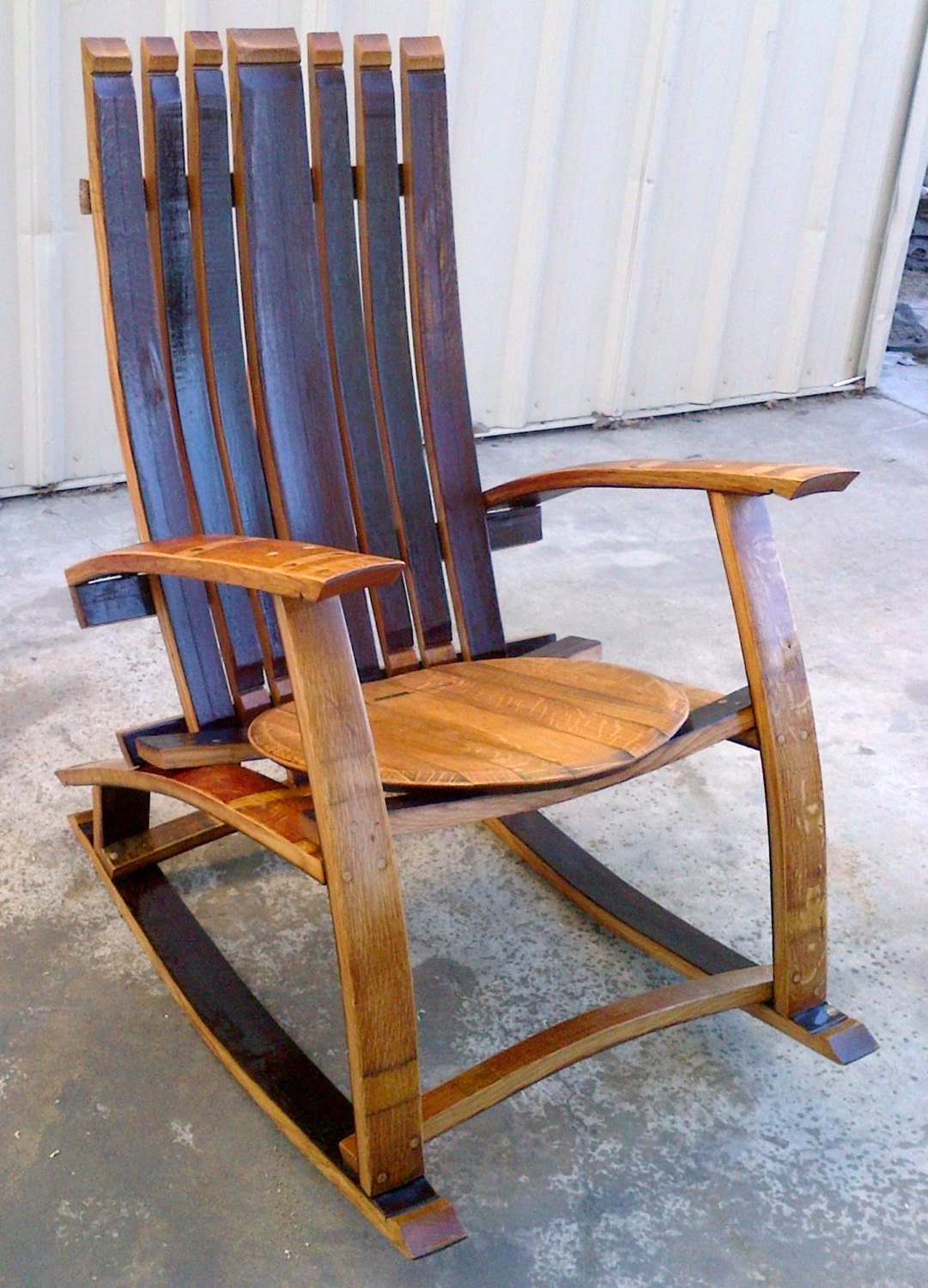 Wine Barrel Rocking Chair By LivengoodWood On Etsy