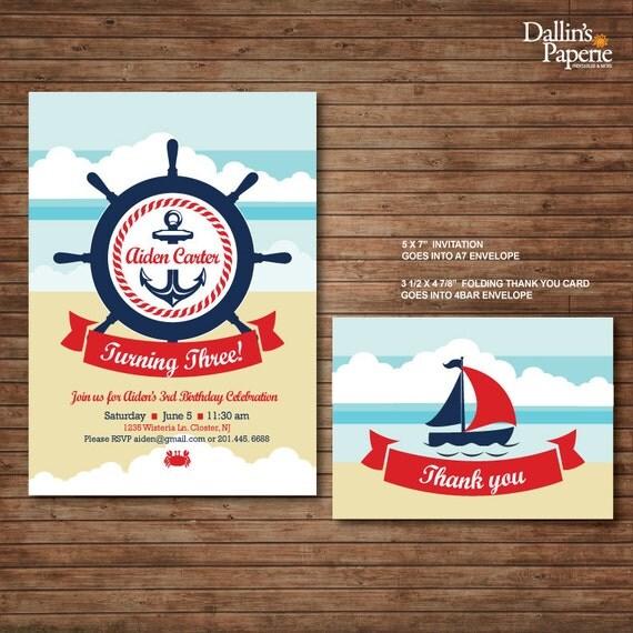 Marine Wedding Invitations: Items Similar To Nautical Marine Birthday Party Printable