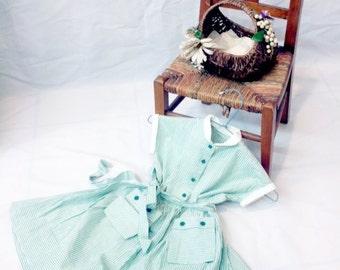 1930 girl dress // 1930 dress // cotton dress // stripes dress // antique dress // girls dress // 1920 dress // child dress