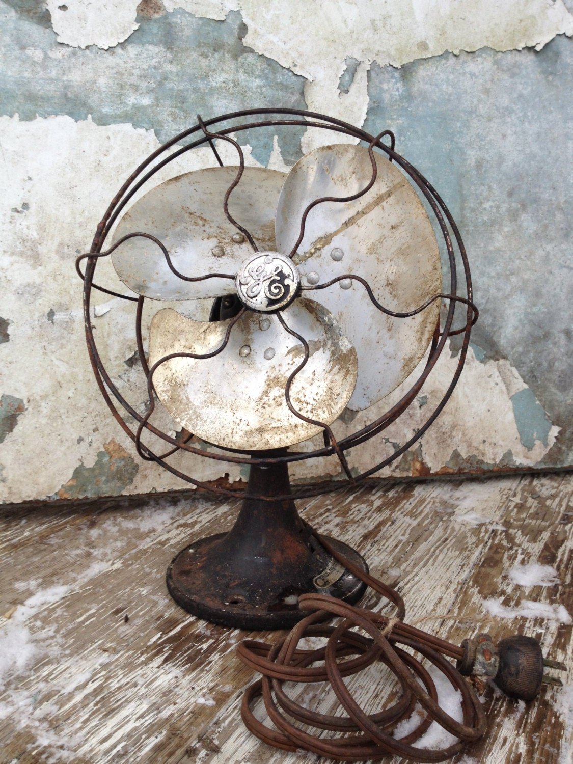 vintage fan ge industrial decor steampunk by marchharemade