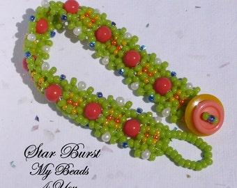 Seed Bead Bracelet, Embellished Bracelet, Beaded Bracelet, Beaded Jewelry, Beadwoven Bracelet, Beadwork Bracelet, Bracelet Tutorial