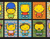 Bitty Bear Simpsons Sticker 10pk Vol 1