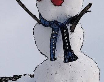 Little Snowman - Playroom Decor - Kidsroom Art - Still Life Photos - Fine Art Photography - Creative Photography