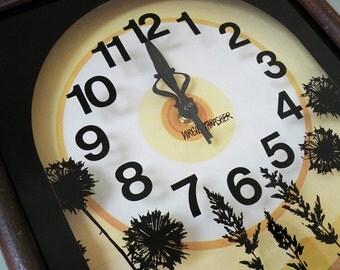 Virgil Thrasher Vintage Wall Clock 70s Earth Tones Retro