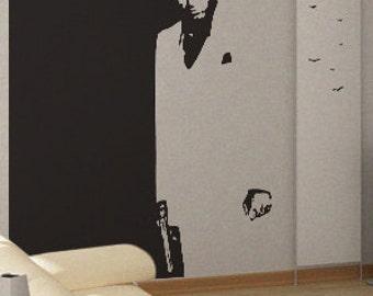 Scarface - uBer Decals Wall Decal Vinyl Decor Art Sticker Removable Mural Modern A221