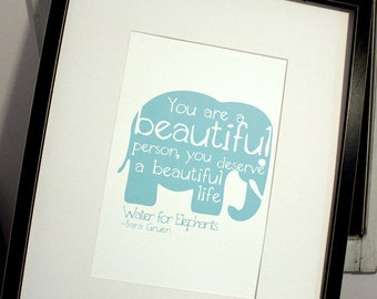 Water for Elephants Quote - Digital Print