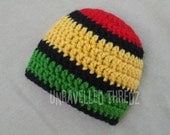 Newborn Hat- Rasta Baby Beanie- Multiple Sizes