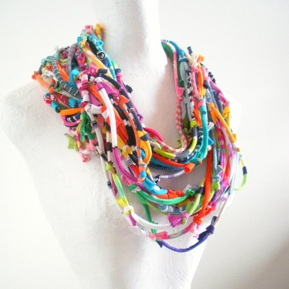 technicolor infinity scarf bright colors tribal by