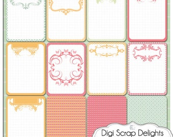 Pretty Bible Journal Cards Set 2, Project Life Inspired 3x4 Printable PDF & PNG, Digital Scrapbooking, Instant Download