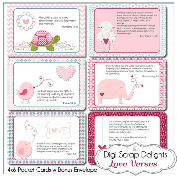 Bible Journaling Cards Scripture Art Love Bible Verse Cards – Verses for Valentine Cards