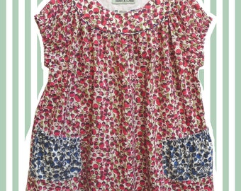 Girl's Liberty Print Tunic Top for Baby to 10 Years