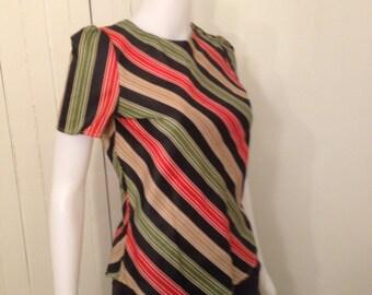 Vintage 70s Jonathan Martin Striped Shirt
