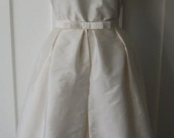 SALE - I Do..... Vintage Inspired 1950s Wedding Gown with Over Skirt - Handmade in New Zealand....Dress... Ivory... Wedding.... Taffeta