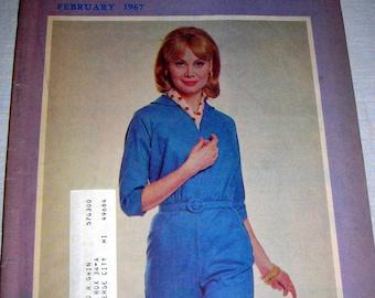 Popular Needlework Magazine February 1967, Vintage Craft Magazine, Mad Men Style, Midcentury Style, US Shipping Included in Price