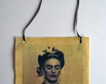 frida kahlo bees waxed fabric photo