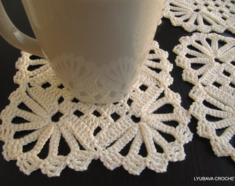 Crochet Coaster PATTERN, Crochet Home Decor Pattern, DIY Coasters, Shabby Chic Decor, Diy Crochet Gifts, Instant Download, PDF Pattern No.11