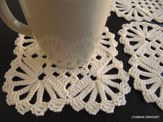 Crochet Coaster PATTERN-Shabby Chic-Crochet Home Decor-Coasters Tutorial-DIY Crafts-Crochet Gifts-Instant Download PDF Digital Pattern No.11