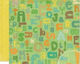 SCRAPBOOK PAPER / 4 Sheets / School Alphabet Crate - Little Sprout Collection - Elements 12 x 12 inches