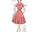 Plus Size (or any size) Vintage 1950s Dress Pattern - PDF - Pattern No 68 Katherine