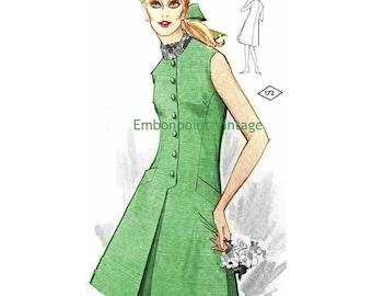Plus Size (or any size) Vintage 1969 Dress Pattern - PDF - Pattern No 172 Jeanette