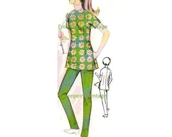 Plus Size (or any size) 1969  Vintage Sewing Pattern - PDF - Pattern No 122 Gwen Pants