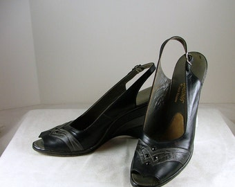 1950's JACK ROGERS Wedgelings Size 8
