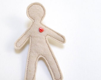 man in love brooch