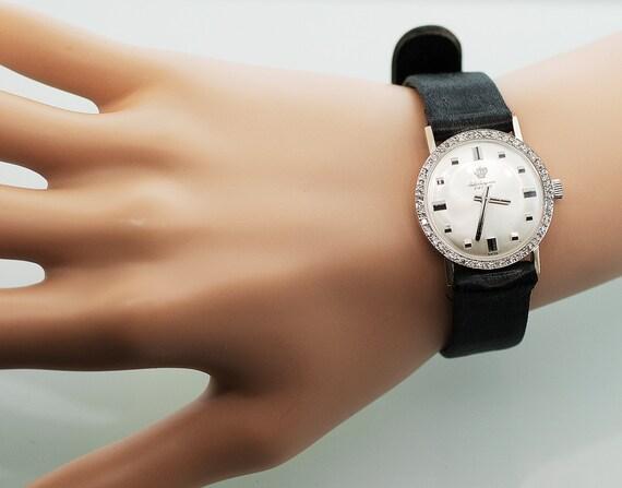 Vintage Watch - Tuxedo Jules Jurgensen Watch with Diamond Dial