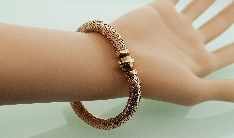 Antique Bracelet Antique Rose Gold Mesh Bracelet