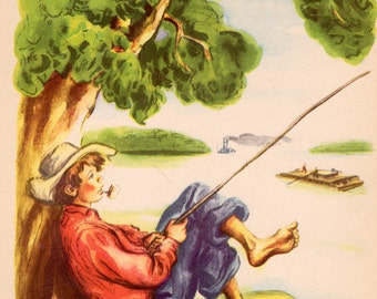 The Adventures of Huckleberry Finn by Mark Twain, illustrated by Donald McKay