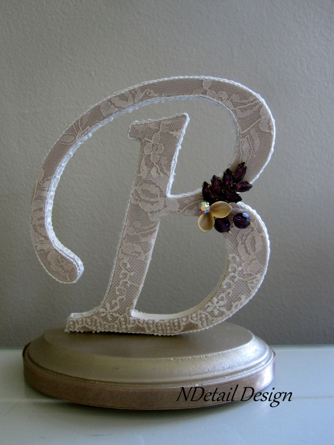 letter e wedding cake toppers monogram wedding cake topper letter b in by ndetaildesign 16833