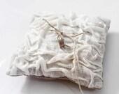 Ring Bearer - wedding linen bearers -white linens bearer pillow -7x7 inches size