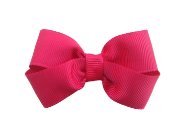 Red boutique hair bow - 3 inch red bow, red hair bows, girls hair bows, toddler bows, baby bows, girls hair bows, 3 inch bows