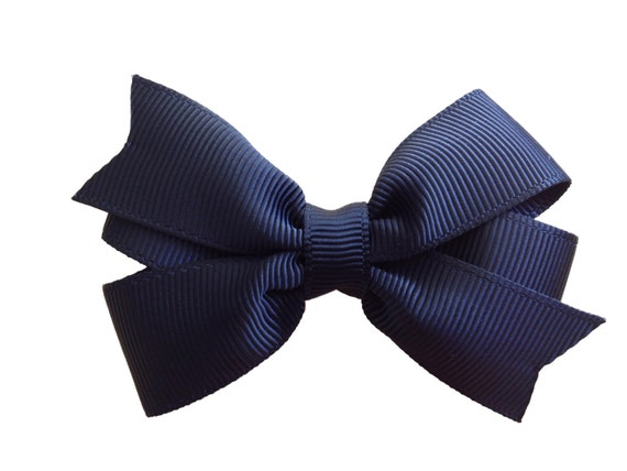 Adorable 3 inch black hair bow - black bow, 3 inch black bow, pinwheel bows, girls hair bows, baby bows, toddler bows, girls bows