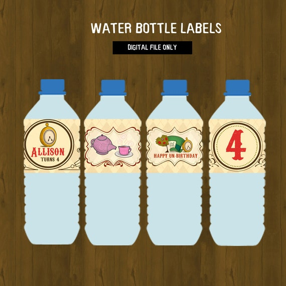 Alice In Wonderland Water: Alice In Wonderland Water Bottle Labels By SplashboxPrintables
