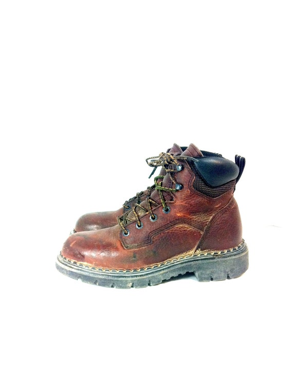 New Vintage Red Wing Boots Steel Toe Combat Boot Style Zippers