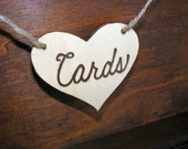 Rustic Wooden Cards wedding sign in natural wood - made to order