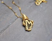 Vintage Wire Wrapped Initial Necklace