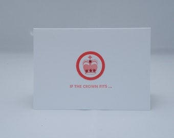 Blank Crown Card in Red and White