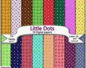 Little Dots Digital Papers - 16 Spotty Dotty Backgrounds for Crafting Projects, Scrapbooking etc Instant Download