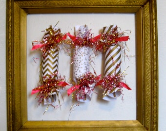 Gold and Pink Wedding Party Cracker