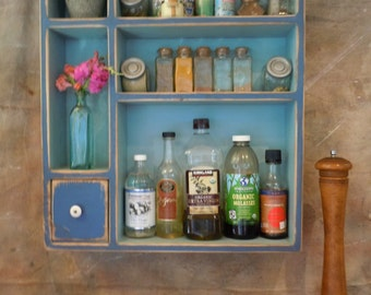 Spice Rack-Condiment Rack-Rustic and distressed - Large Free Standing Spice Rack - MADE TO ORDER