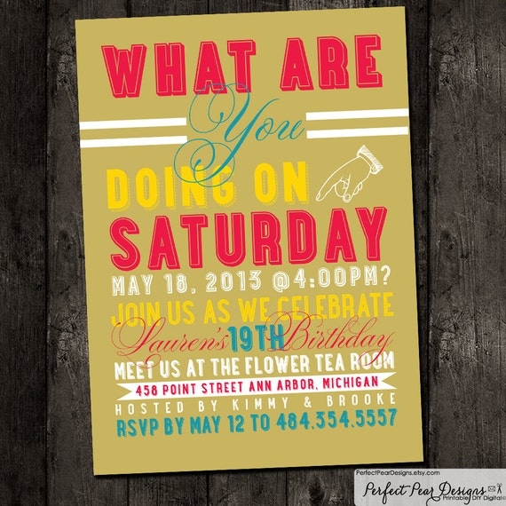 Neon Party Invitation Wording was adorable invitation layout