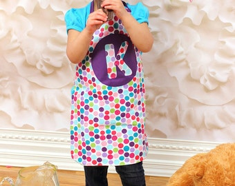 Child size apron with matching chef hat , dress up clothes , Christmas , birthday , gift , cooking set