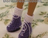 High Top Shoes with Socks For Fashion Dolls