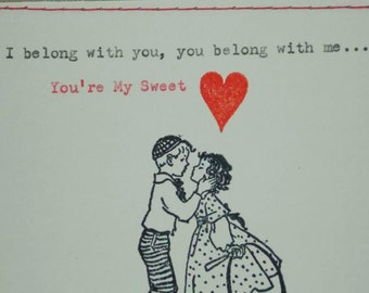 Love Card I Belong with You You Belong with Me You're My Sweetheart