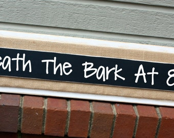 Chalkboard Message Sign - Welcome Sign - Distressed Wood -  White and Burlap