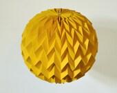 BUBBLE: Hanging Decorative Origami Paper Ball - Mustard Yellow / FiberStore by Fiber Lab